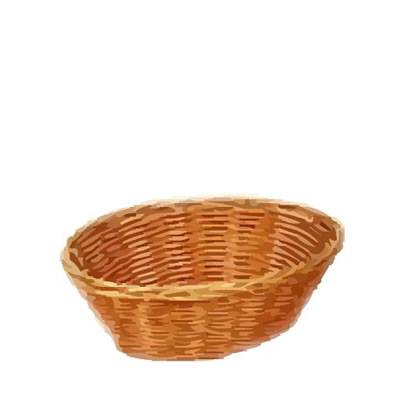 Round wicker basket 9in diameter - Diametre cercle basket ...