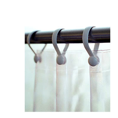 Plastic Shower Curtain Hooks - 1 DOZEN pkg
