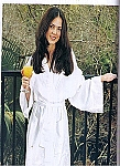 Waffle Weave Robe - White Only 100% Cotton, White Only - Preshrunk
