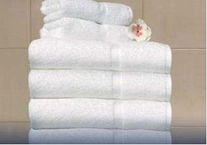 Diamond Crown  -  A White, 100% Cotton Luxury Towel