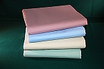 Percale T-180 - 1st Quality FULL FITTED Sheets IN COLORS - Seafoam