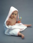Hooded Terry Baby Towel 30 x 30