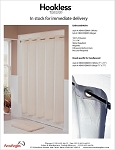 The Hookless® Shower Curtain - Embossed Moire Fabric