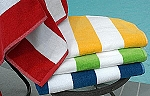 Velour Tropical Stripe Beach Towel