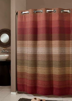The Hookless Shower Curtain Stratus Multitone