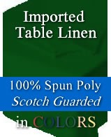 Spun Poly Table Napkins - 20 x 20