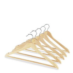 Hangers - Wood with Hook - 100 PER CASE