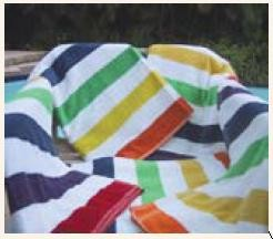 Economy Beach Towels - Multi Stripe 30 x 60