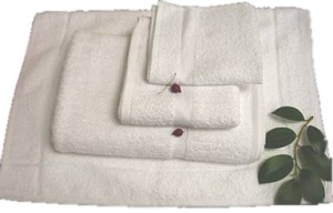 "Imported Towels - Poly-Cotton Blend - Plain Border - 24"" X 50"""